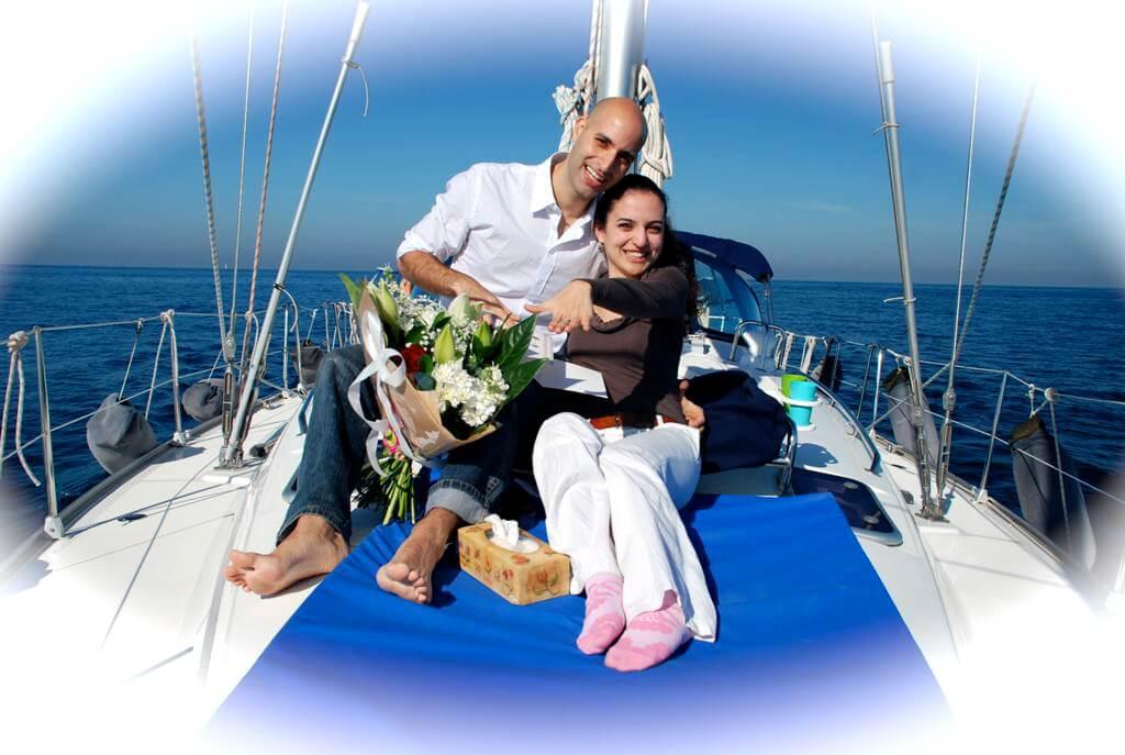 הצעת נישואים, הצעת נישואין על יאכטה,שייט רומנטי לזוג בזול