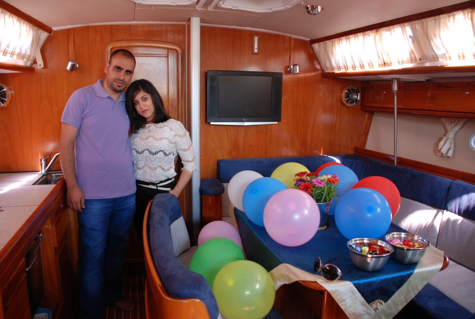 תמונות הפלגה ביאכטה,הפלגה רומנטית,רעיון למתנה יום הולדת